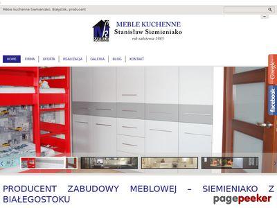 Siemieniako Stanisław - zabudowa aneksu kuchennego Białystok
