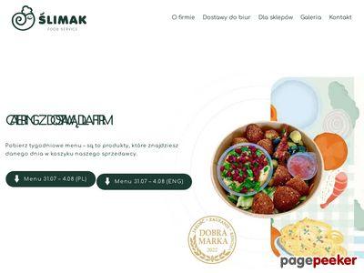 Ślimak - dostawa obiadów w Warszawie