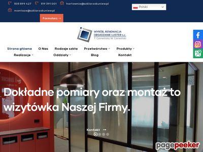 Zakład Szklarski Czerwińscy T.M. - drzwi szklane
