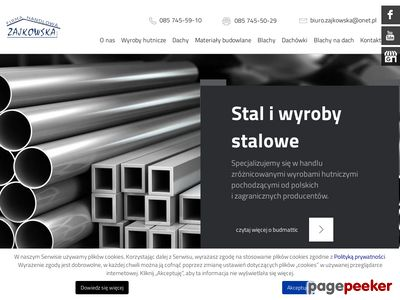 Firma handlowa Zajkowska w Białymstoku