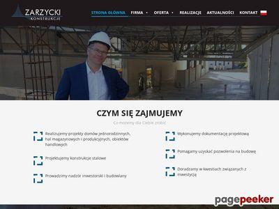 Rafał Zarzycki Zarzycki Konstrukcje Budowlane Przedsiębiorstwo Projektowania i Realizacji Inwestycji