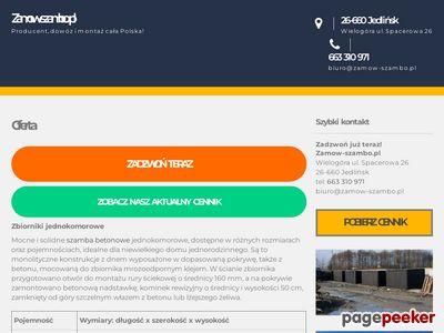 Szamba ekologiczne | zamow-szambo.pl