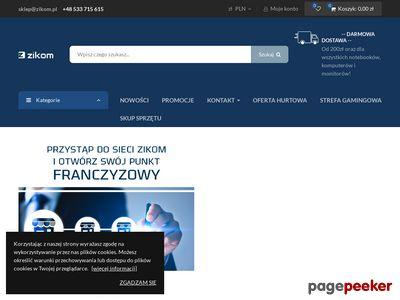 Używane komputery, monitory i laptopy na zikom.pl