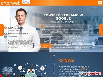Strona www firmy AfterWeb