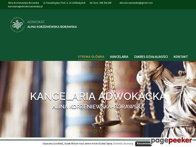 Oferta i dane firmy adw. A. Korzeniewska