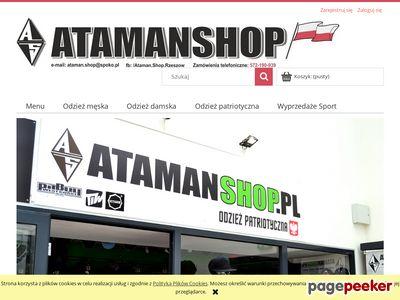 Strona www firmy Atamanshop