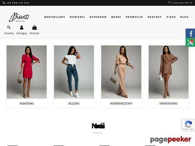 Strona www firmy Bien Fashion
