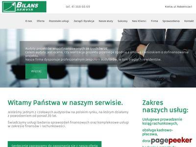 Strona www firmy Bilans-Servis
