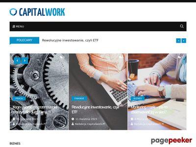 Strona www firmy Capital Work
