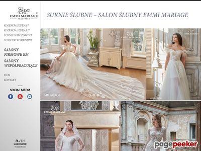 Strona www firmy EMMI MARIAGE