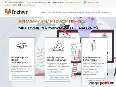 Strona www firmy Foxberg Sp. z o.o.