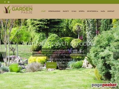 Strona internetowa firmy Garden-Pasje.pl
