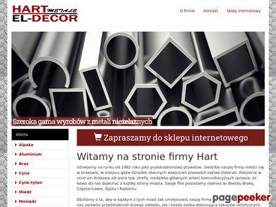 Strona www firmy Hart