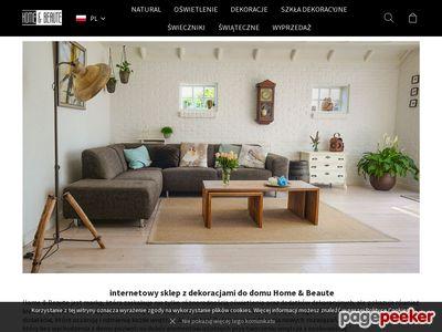 Strona internetowa firmy HomeBeaute.com.pl