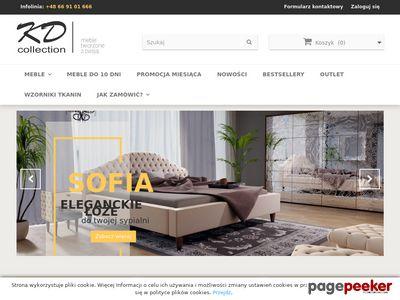 Strona internetowa firmy KD Collection