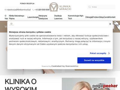 Strona www firmy Klinika Miracki