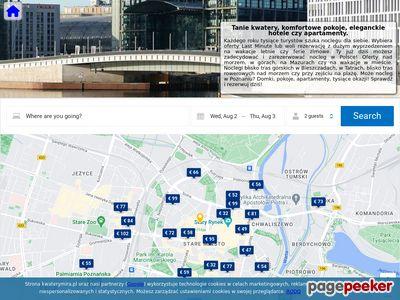 Strona www firmy Kwatery Pracownicze Mirosława Kańduła