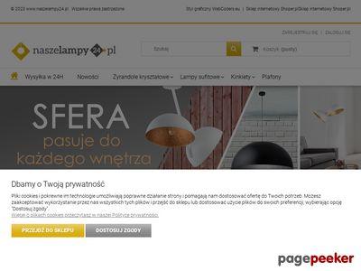 Strona www firmy Naszelampy24.pl
