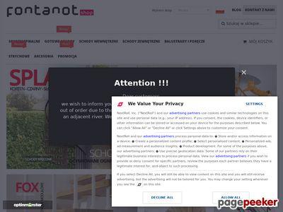Strona internetowa firmy Fontanot Polska