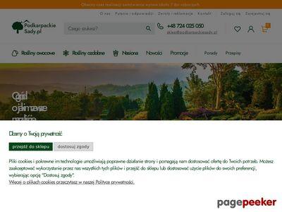 Strona internetowa firmy PodkarpackieSady.pl