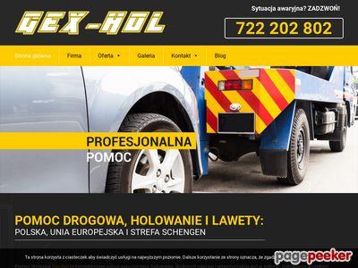 Strona www firmy Gex-Hol