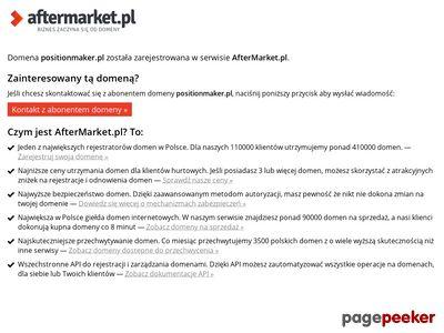 Strona www firmy PositionMaker