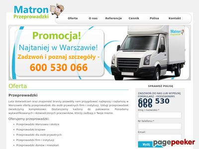 Strona www firmy Matron