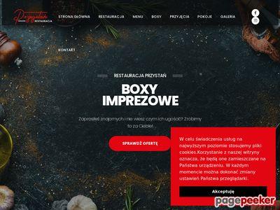 Strona www firmy Restauracja Przystań