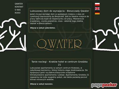 Strona www firmy Qwater