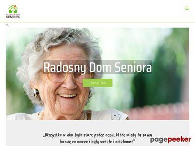 Strona www firmy Radosny Dom Seniora