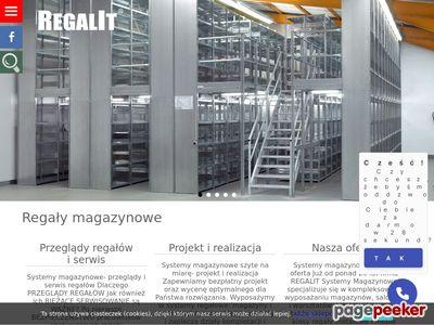 Strona www firmy REGALIT