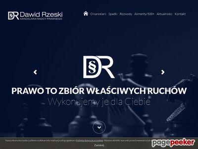 Oferta i dane firmy Radca Prawny Dawid Rzeski