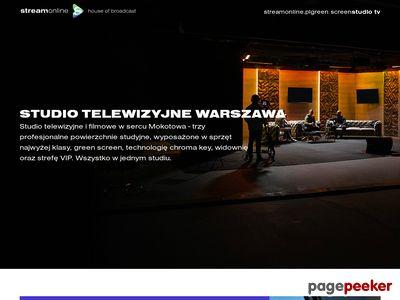 Strona internetowa firmy Studio Streamonline