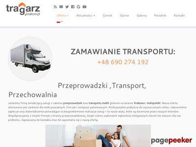 Strona www firmy Tragarz