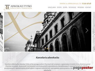 Strona www firmy Kancelaria Adwokacka T&T