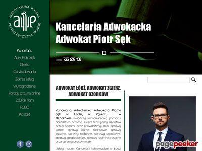 Oferta i dane firmy adw. Piotr Sęk