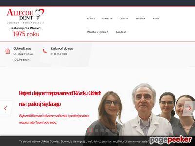 Strona www firmy ALLECOU DENT