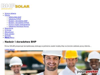 Strona www firmy SOLAR