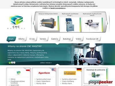 Strona www firmy CNC MASZYNY