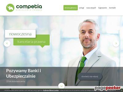 Strona www firmy Competia
