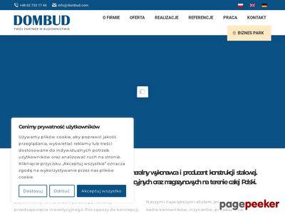 Strona www firmy Dombud