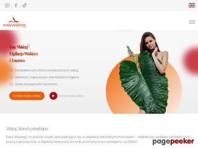 Strona www firmy Studio Easy Waxing