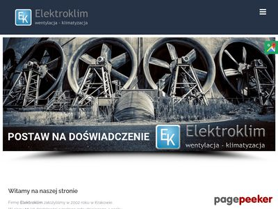 Strona www firmy Elektroklim