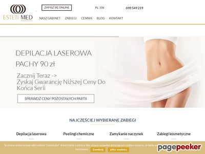 Strona www firmy Estetimed