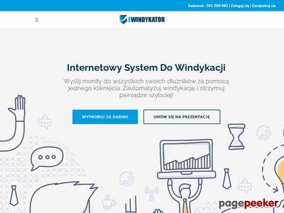 Strona www firmy Ewindykator.pl
