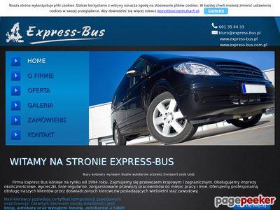 Strona www firmy Express Bus