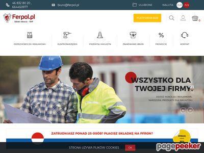 Strona www firmy Ferpol