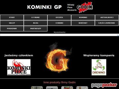 Strona www firmy Kominki GP sp. z o.o.