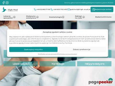 Strona www firmy High-Med