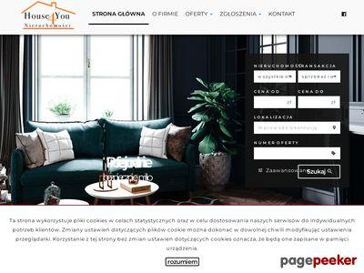 Strona www firmy House4you Nieruchomości